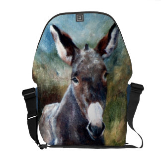 Donkey Portrait Messenger Bag