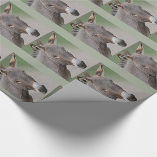 Donkey Portrait Wrapping Paper