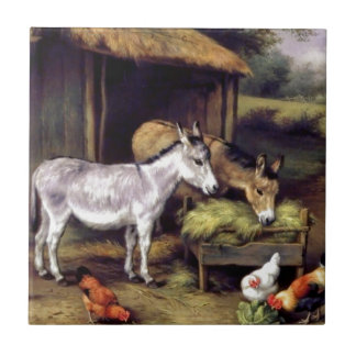 Donkey rooster farm tile
