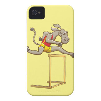 Donkey running and jumping over a hurdle Case-Mate iPhone 4 case