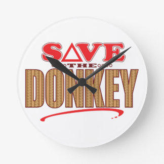 Donkey Save Wallclock