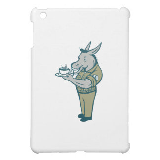 Donkey Sergeant Army Standing Drinking Coffee Cart iPad Mini Covers