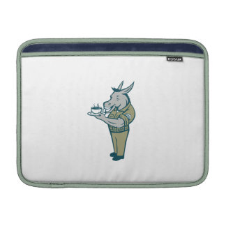 Donkey Sergeant Army Standing Drinking Coffee Cart MacBook Sleeve