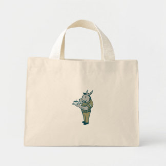 Donkey Sergeant Army Standing Drinking Coffee Cart Mini Tote Bag