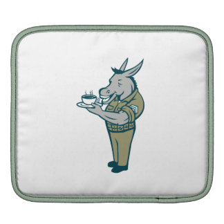 Donkey Sergeant Army Standing Drinking Coffee Cart Sleeves For iPads