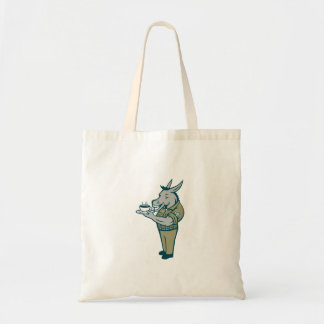 Donkey Sergeant Army Standing Drinking Coffee Cart Tote Bag