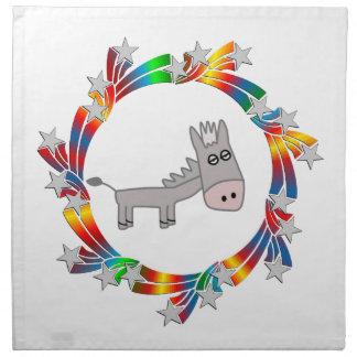 Donkey Stars Napkin
