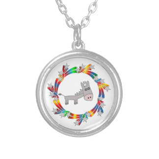 Donkey Stars Silver Plated Necklace