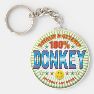 Donkey Totally Keychain