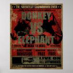 Donkey vs. Elephant Poster