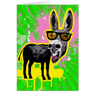 Donkey Wearing Sunglasses Card