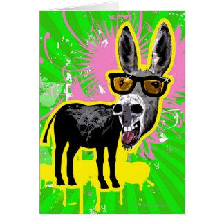 Donkey Wearing Sunglasses Greeting Card