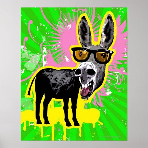 Donkey Wearing Sunglasses Print