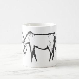 Donkey Woodcut Mugs