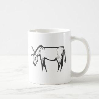 Donkey Woodcut Mug