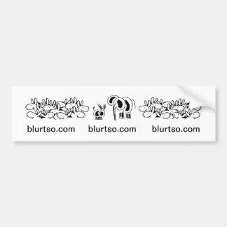donkeys and elephant at blurtso.com bumper sticker