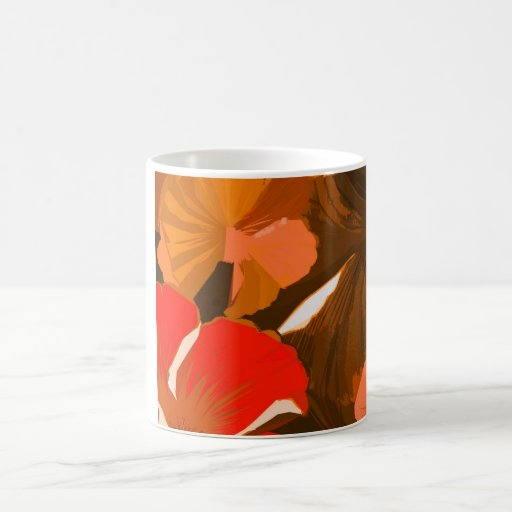 Donna's Autumn Woodcut Coffee Mugs