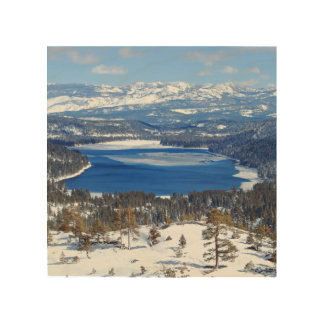 Donner Lake California Wood Art Wood Canvases