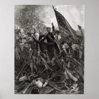 Donner l'assaut à du point pierreux, juillet 1779 poster