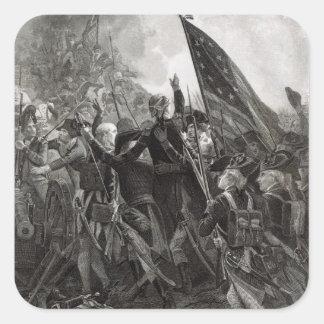 Donner l'assaut à du point pierreux, juillet 1779 sticker carré