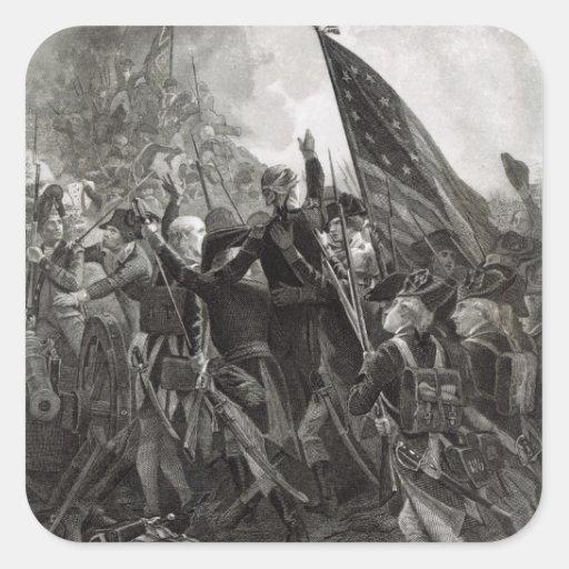 Donner l'assaut à du point pierreux, juillet 1779 stickers carrés