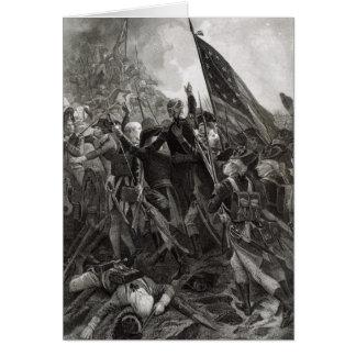 Donner l'assaut à du point pierreux, juillet 1779 carte de vœux