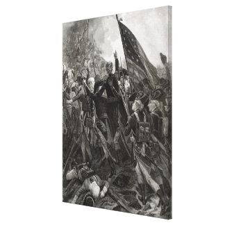 Donner l'assaut à du point pierreux, juillet 1779 toile tendue