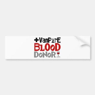 Donneur de sang de vampire autocollant de voiture
