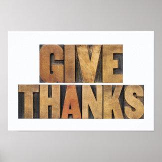 Donnez les mercis - concept de thanksgiving - poster