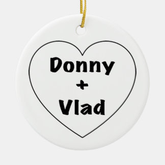 Donny + Vlad Ceramic Ornament
