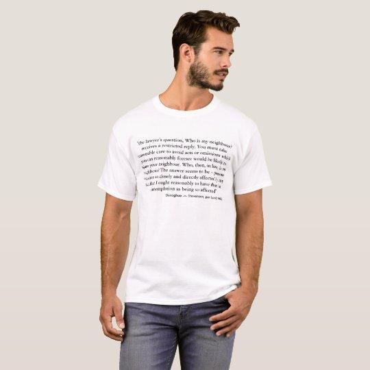Donoghue v Stevenson ratio T-Shirt