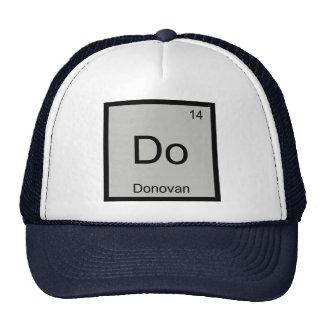 Donovan Name Chemistry Element Periodic Table Trucker Hats
