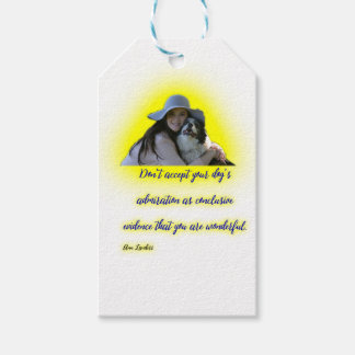Don't accept your dog's admiration gift tags