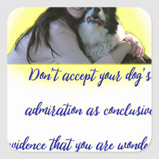 Don't accept your dog's admiration square sticker