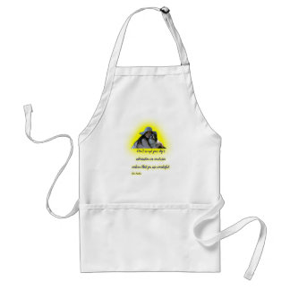 Don't accept your dog's admiration standard apron