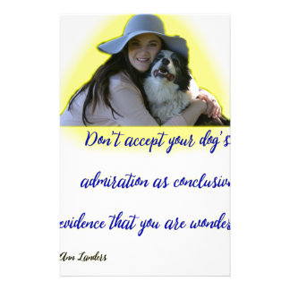Don't accept your dog's admiration stationery