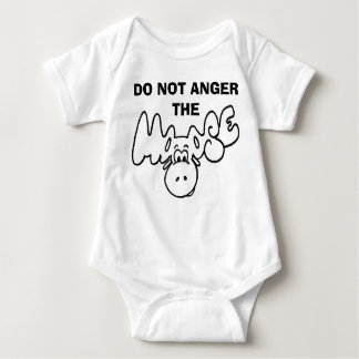 Don't anger the moose baby bodysuit