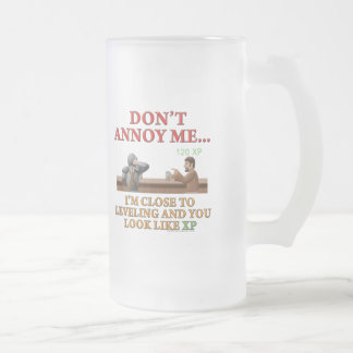 Don't Annoy Me Frosted Glass Beer Mug