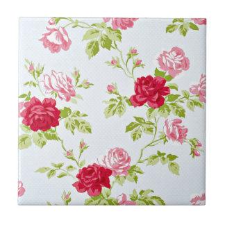 Don't be Blue Vintage Rose Pattern Ceramic Tiles