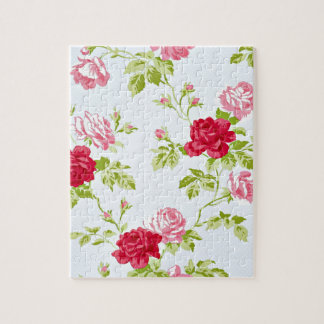 Don't be Blue Vintage Rose Pattern Jigsaw Puzzle