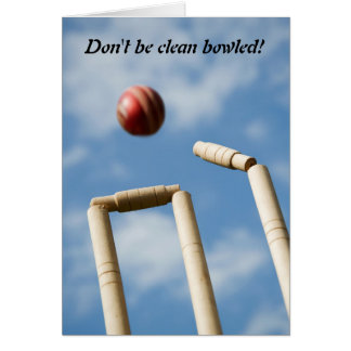 Don't be clean bowled! greeting card