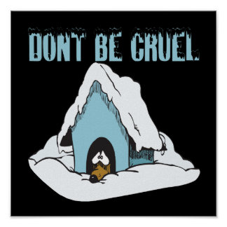 Dont Be Cruel Poster