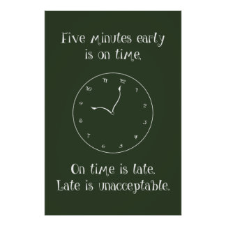 Don't Be Late! Classroom Poster
