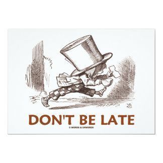 Don't Be Late (Mad Hatter Running) Card