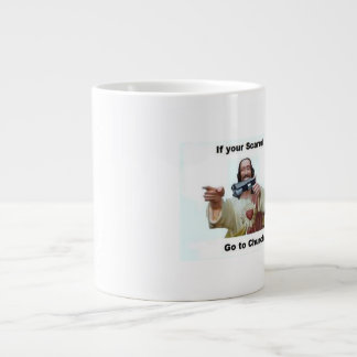 Don't Be Scared WWJD Large Coffee Mug