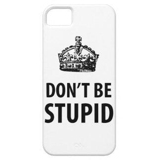 Don't Be Stupid iPhone 5 &  Cover