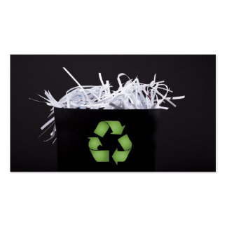 Don't Be Trashy - Recycle Business Card