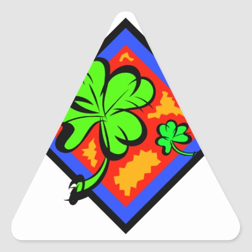Don't be Without Your Lucky Shamrock!!! Triangle Stickers