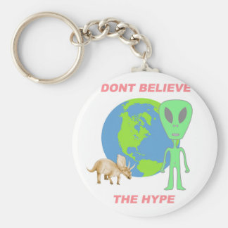 Don't Believe the Hype Basic Round Button Keychain