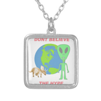Don't Believe the Hype Silver Plated Necklace